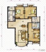 新华联运河湾3室2厅2卫131平方米户型图