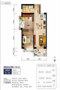 海口碧桂园2室2厅1卫67平方米户型图