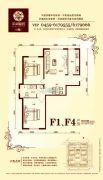 华溪龙城二期2室2厅1卫91平方米户型图