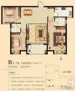 海悦名门3室2厅2卫125--126平方米户型图