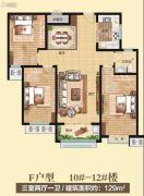 创业・齐韵韶苑3室2厅1卫129平方米户型图