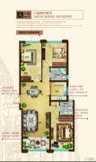奥北公元3室2厅2卫0平方米户型图