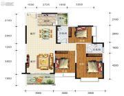 华东七里香(迎龙苑2期)3室2厅2卫117平方米户型图