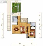 绿地城2室1厅1卫159平方米户型图