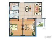 正大国际广场2室2厅1卫0平方米户型图
