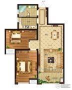 瀛海19城2室2厅1卫89平方米户型图