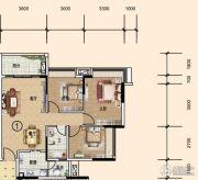文华豪庭3室2厅1卫88平方米户型图
