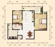 昊天大厦二期2室2厅1卫109平方米户型图