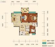 幸福东郡3室2厅2卫114平方米户型图