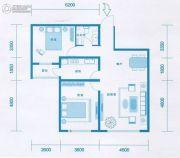 时光城2室2厅1卫101平方米户型图
