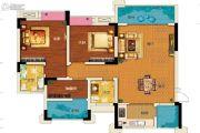 两江春城3室2厅2卫81平方米户型图