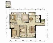 东方骏园4室2厅2卫133平方米户型图