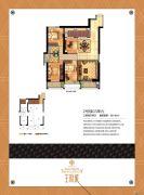 王府城3室2厅2卫146平方米户型图