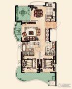 翡丽蓝湾3室2厅2卫128平方米户型图