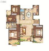 月桥花院3室2厅2卫136平方米户型图