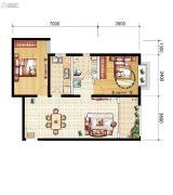 山海城邦・马街摩尔城2室2厅1卫91--9127平方米户型图
