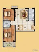 香榭丽都2室2厅1卫93平方米户型图