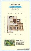 宏维・华仁北郡3室2厅2卫120平方米户型图