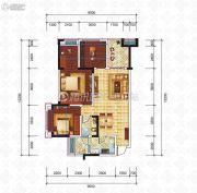 滨江国际3室2厅1卫89平方米户型图