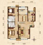 富力城3室2厅2卫136平方米户型图