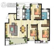 新加坡尚锦城3室1厅1卫132平方米户型图