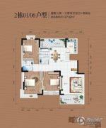 同安・福龙湾3室2厅2卫127平方米户型图