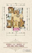 俊发城4室2厅2卫0平方米户型图