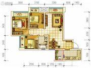 首创光和城3室2厅1卫77平方米户型图