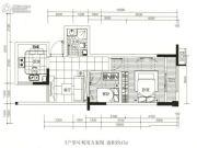 龙江云山墅2室1厅1卫47平方米户型图