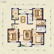 保艾尔云麓4室2厅2卫153平方米户型图