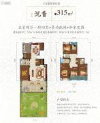 实力玖如堂5室2厅4卫315平方米户型图