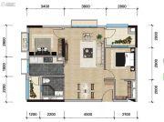 远洋天骄广场2室2厅1卫78平方米户型图