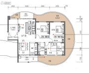 滨海・幸福里3室2厅2卫128平方米户型图