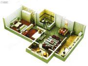 启迪国际城仕家2室1厅1卫94平方米户型图