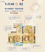 勒流碧桂园4室2厅2卫118平方米户型图