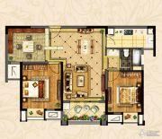 观湖壹号2室2厅1卫101平方米户型图