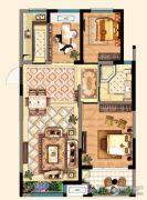 明发江湾新城3室2厅1卫94平方米户型图