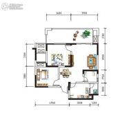 盛美居2室2厅1卫0平方米户型图