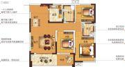 塞纳国际3室2厅2卫108平方米户型图