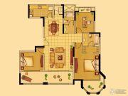 中南世纪花城3室2厅2卫139平方米户型图