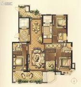 绿地新都会3室2厅3卫172平方米户型图