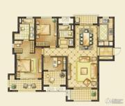 华润橡树湾3室2厅2卫142平方米户型图