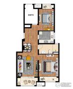 万科MixTown2室2厅1卫88平方米户型图