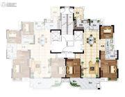 长江国际广场4室2厅2卫147平方米户型图