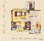 永翔时代名苑3室2厅2卫121平方米户型图