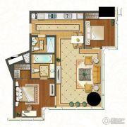 苏宁广场2室2厅1卫114平方米户型图