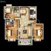 中亚・翰林华府3室2厅2卫108平方米户型图