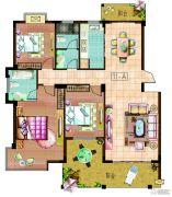 东安明珠3室2厅2卫130--150平方米户型图