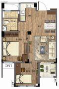 三盛国际公园・香樟里2室2厅1卫59--69平方米户型图