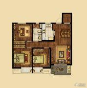 海峡城2室2厅1卫115平方米户型图